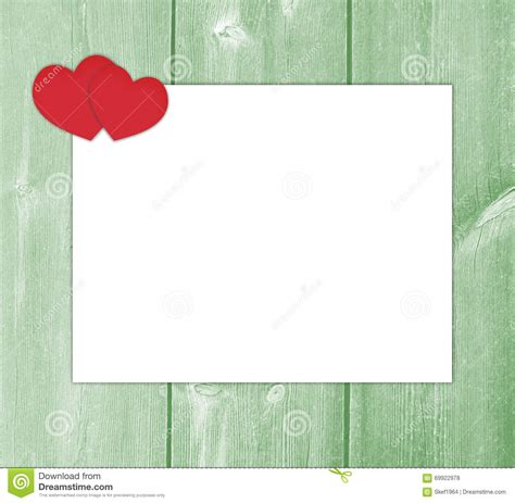 design background letter design love letter with hearts white paper stock