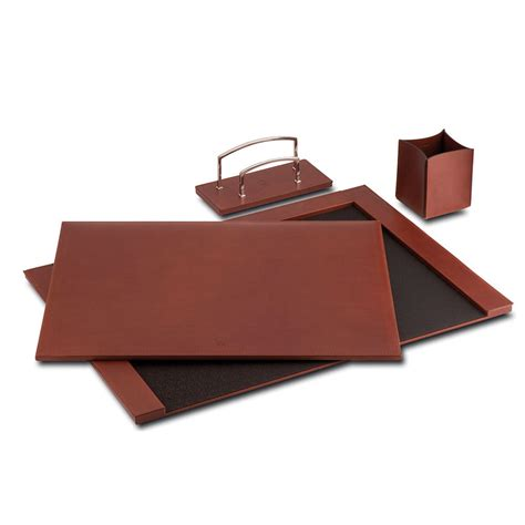 pineider power elegance 3 leather desk set