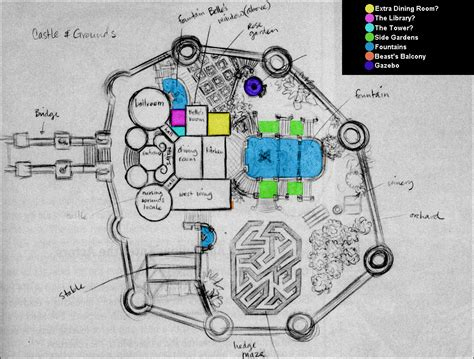 disney castle floor plan map request disney s beauty and the beast castle s floorplan dnd