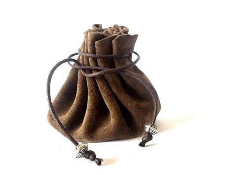 leather pounch drawstring leather pouch coin purse brown by radileather