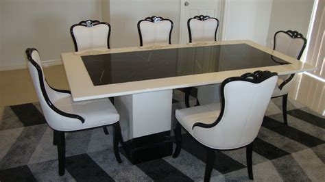 Marble Dining Table With Bench Barcelona Marble Dining Table With 8 Chairs Marble King