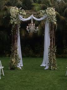Decorated Wedding Arbors Natural Wood Arches Oregon Coastal Flowers