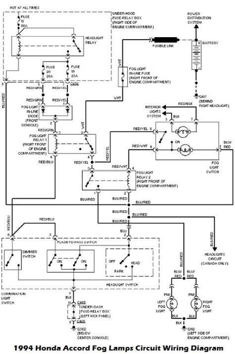 1994 honda accord fog ls circuit wiring diagram