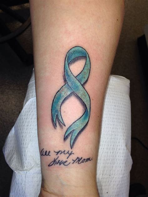 cancer ribbon wrist tattoos ovarian cancer ribbon for xoxo