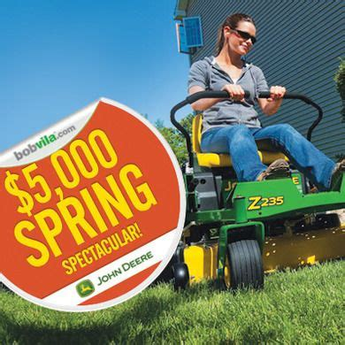Riding Lawn Mower Sweepstakes - bob vila s 3000 best backyard giveaway from craftsman john deere garage storage