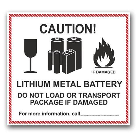 Aufkleber Gefahrgut Lithium Batterien Kostenlos by Gefahrzettel Lithium Metal Battery Etiketten F 252 R