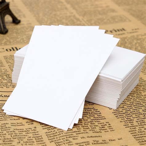 Label Aksesoris Card Label Tag 100pcs white blank trading business wood cards label tag name card 90 x 55mm diy ebay