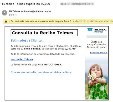 tencia 2015 imprimir recibo df cuidado con los correos phishing tu recibo cfe 243 telmex