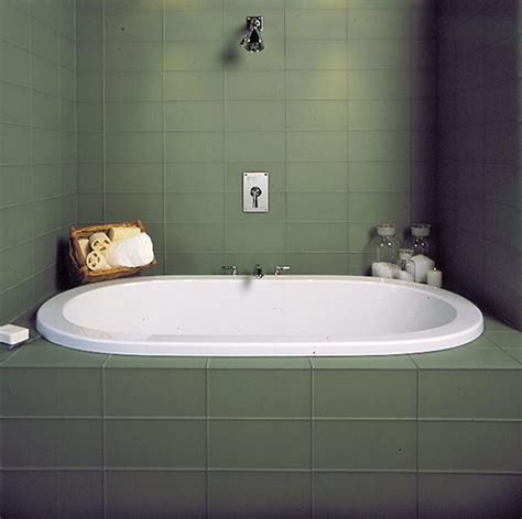 clean my space bathroom clean soothing green glass tile deep soaking tub zen