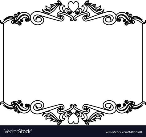 decorative card design decorative card frame floral border cute image vector image