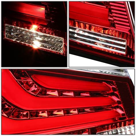 broken tail light cover illegal 04 07 bmw e60 e61 5 series 4 door pair of clear red lens