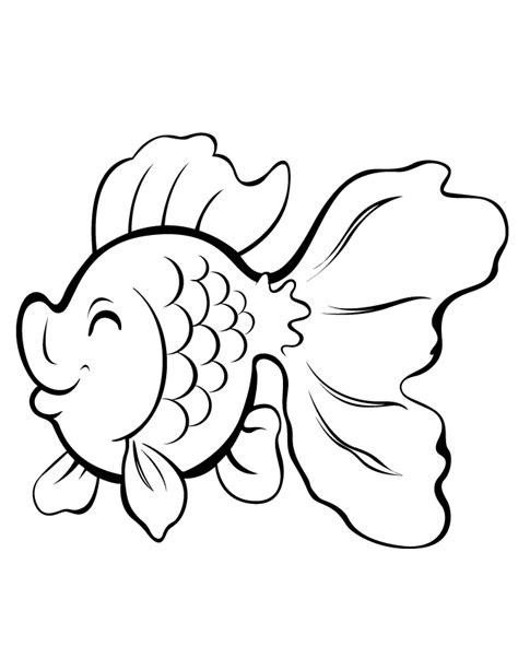 cute cartoon gold fish coloring page h m coloring pages
