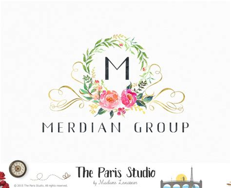 design free wedding logo wedding logo pre made logo design by the paris studio