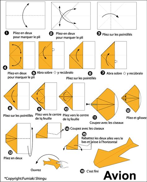 Origami Avion - avion en papier origami planes