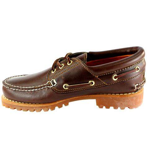 mens timberland heritage classic lug leather lace up boat
