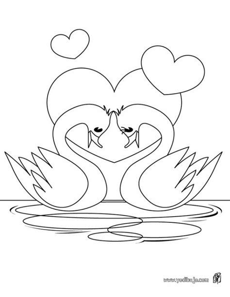 imagenes de amor y amistad sin color cisnes para pintar