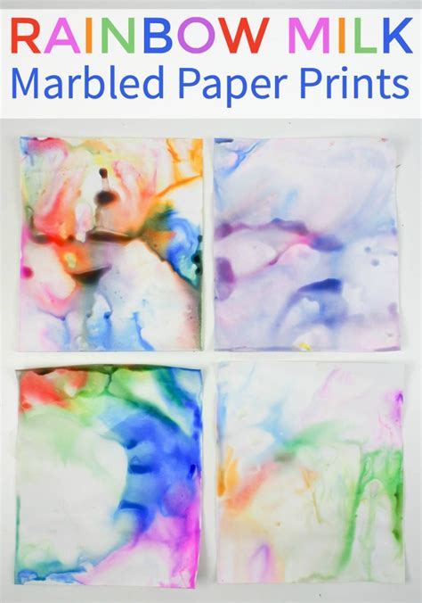 How To Make Marbled Paper - how to make rainbow milk marbled paper in the