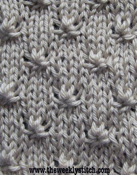 how to knit a knot knot stitch the weekly stitch