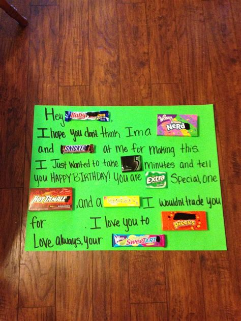 Poster Birthday Card Ideas Birthday Candy Poster Party Ideas Pinterest