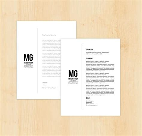 Resume Template Cover Letter Template The Meredith By Phdpress Etsy Letter Template