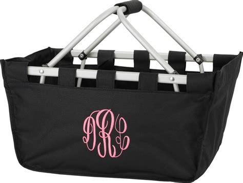 Initial Bag Free 6 Initial black one market utility tote large basket bag personalized monogram thirty st