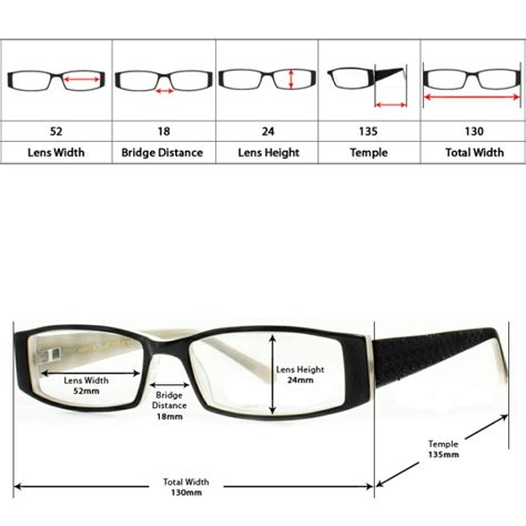 eyeglasses size guide