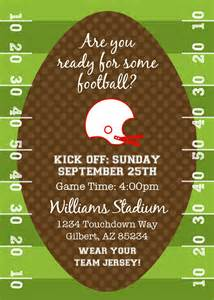 end of season football invitation printable
