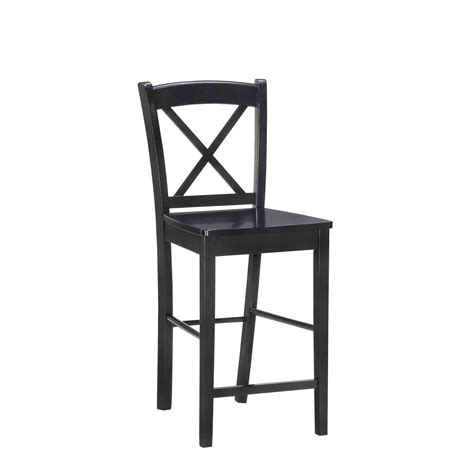 X Back Bar Stool by X Back Bar Stool By Linon In Wood Bar Stools