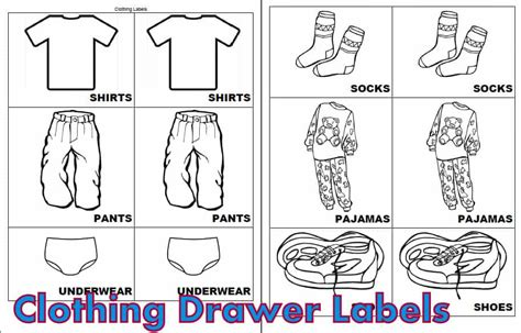 Printable Drawer Labels | free printable labels for kids clothes www