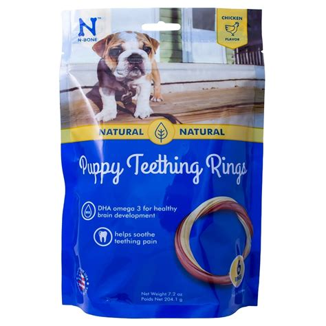 puppy teething ring n bone usa chicken flavored puppy teething ring treats 6 count naturalpetwarehouse