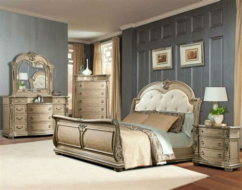 bedroom furniture ta davis direct monaco sleigh bed dresser mirror nightstand great american home store