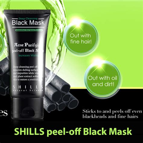 Shills Black Mask Purifying Peel Mask Berkualitas 1 shills cleansing purifying peel black mask blackhead remover
