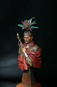painted figures by mike cramer seneca war chief
