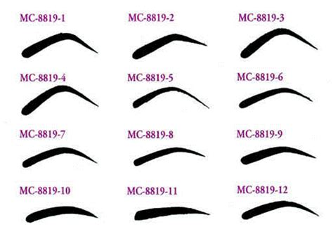 eyebrow templates eyebrow stencils