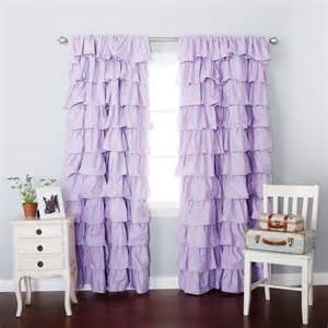 Ruffle Blackout Curtains Lilac Blackout Large Waterfall Ruffle Curtain Soft And Feminine Ruffles Are A Gorgeous Addition