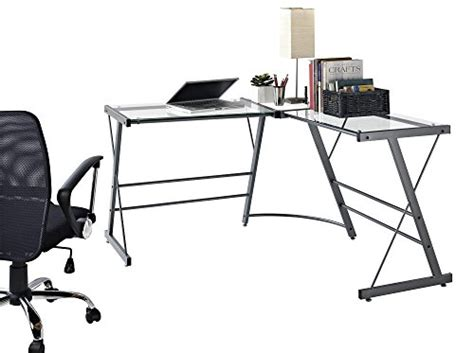 altra the works l shaped desk altra odin glass l shaped computer desk gray homegoodsreview