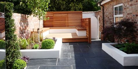 Small Contemporary Garden Ideas Contemporary Garden Leaf Gardens Outdoors Contemporary Gardens