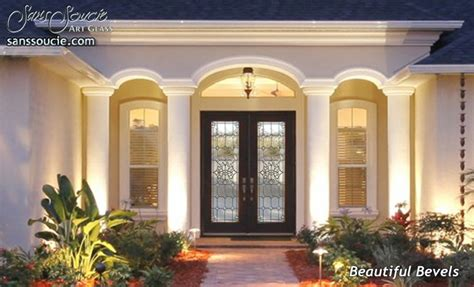 beautiful bevels stained glass doors  sans soucie