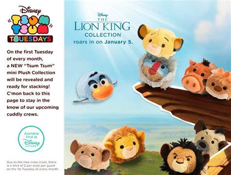 king tsum tsum collection to be released in january disney tsum tsum