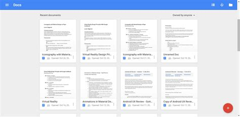 scroll template for google docs android is the floating action button going away user
