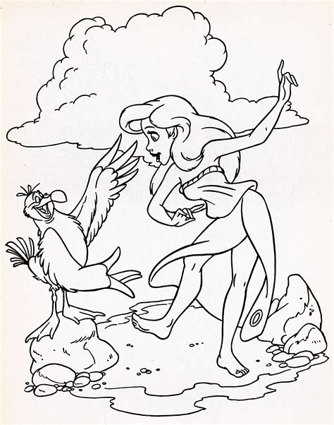 the little mermaid coloring pages scuttle walt disney characters walt disney coloring pages