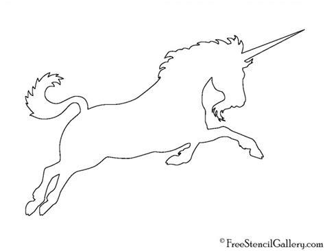 free printable unicorn stencils unicorn silhouette 02 stencil free stencil gallery