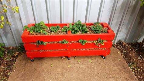 strawberry planter ideas pallet strawberry planter 101 pallet ideas