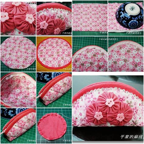 How To Make Handmade Bags Step By Step - how to make makeup cosmetic bag for your skin