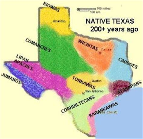 indian tribes in texas map the karankawas of southeast texas