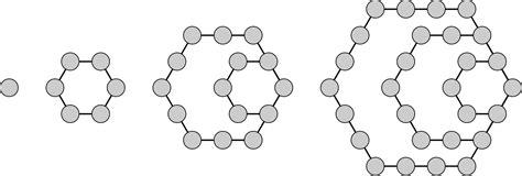 pattern of hexagonal numbers hexagonal number wikipedia