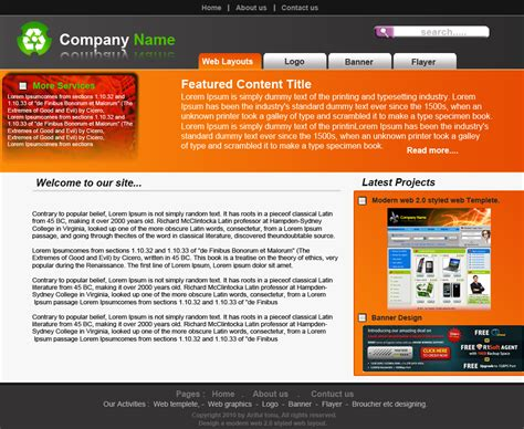 web layout microsoft word 2010 web 2 0 template layout design ariful s portfolio