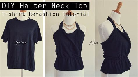 Wardrobe Refashion Wants You To Stop Buying Clothes by Easy Diy Tutorial T Shirt Refashion Into Halter