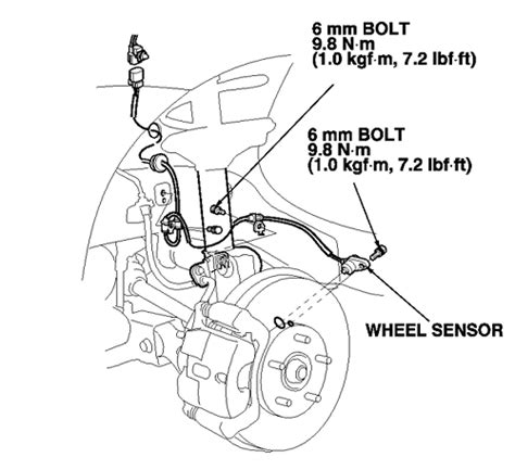repair anti lock braking 2009 honda accord on board diagnostic system repair guides anti lock brake system abs wheel speed sensors autozone com