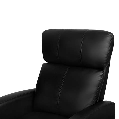 black faux leather recliner faux leather armchair recliner black afterpay zippay
